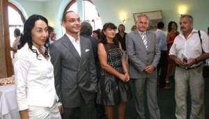 Апостолов с Кольо Парамов и Евгени Манев